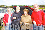 Enjoying the coursing in Kilflynn on Sunday were Eileen Purtil, Ballybunion, Nell Dillon, Rathkeale, with Nora and Oliver raligh, Newcastle West..   Copyright Kerry's Eye 2008