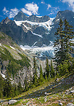 North Cascades National Park, WA<br /> West face of Mt Shuksan with Curtis Glacier