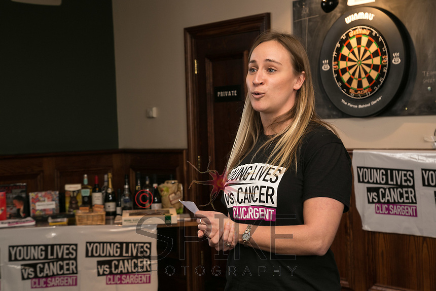 Joanna Hancock of CLIC Sargent introduces the event