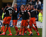 Kieron Freeman of Sheffield Utd celebrates his goal with Billy Sharp of Sheffield Utd during the English League One match at the Proact Stadium, Chesterfield. Picture date: November 13th, 2016. Pic Simon Bellis/Sportimage