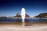 BRAZIL, Rio de Janiero, Awilda Sculpture, Botafogo Beach