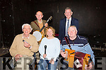 Musicians at the Tea Dance In aid of the Kerry – Cork Health Link Bus at the Ivy Leaf Theatre, Castleisland on Sunday were Front l-r  Denis McCarthy, Marie Hartnett and Eddie Browne.Back l-r William O'Connor and Paudie Cassidy.