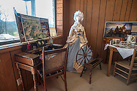 NWA Democrat-Gazette/ANTHONY REYES • @NWATONYR<br /> A colonial exhibit Monday, March 21, 2016 inside the Elm Springs Historical Society 100-year-old building. Exhibits include colonial period, ozark life, costumes and civil war pieces. Across the street from the building is land that will become a park where they have evidence thousands of civil war troops once camped.