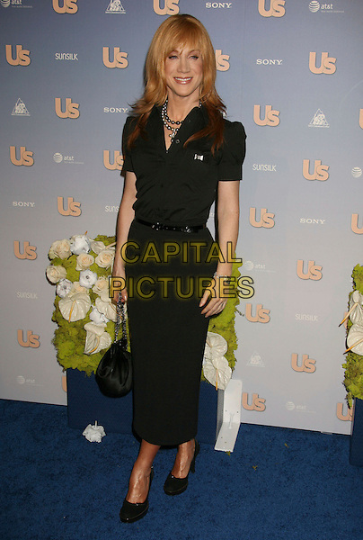 KATHY GRIFFIN.US Weekly's Hot Hollywood 2007 held at Opera, Hollywood, California, USA..September 26th, 2007.full length black dress belt shoes bag purse .CAP/ADM/RE.©Russ Elliot/AdMedia/Capital Pictures.