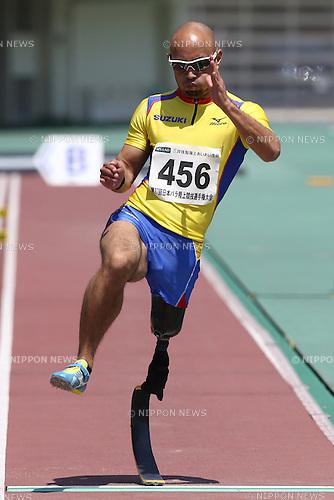 Atsushi Yamamoto,<br /> MAY 1, 2016 - Athletics :<br /> Japan Para Athletics Championships<br /> Men's Long Jump T42 Final<br /> at Coca Cola West Sports Park, Tottori, Japan.<br /> (Photo by Shingo Ito/AFLO SPORT)