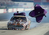 Aug. 31, 2012; Claremont, IN, USA: NHRA pro mod driver Mike Knowles during qualifying for the US Nationals at Lucas Oil Raceway. Mandatory Credit: Mark J. Rebilas-