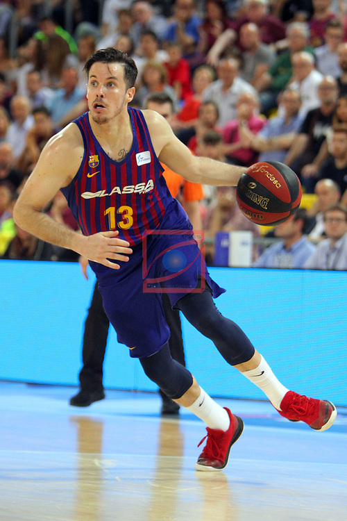 League ACB-ENDESA 201/2019.Game 38.<br /> PlayOff Semifinals.1st match.<br /> FC Barcelona Lassa vs Tecnyconta Zaragoza: 101-59.<br /> Thomas Heurtel.