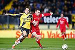 Nederland, Breda, 31 oktober 2012.KNVB Beker.Seizoen 2012-2013.NAC Breda-HBS.Mats Seuntjens (l.) NAC Breda en Cor Roeleveld (r.) van HBS strijden om de bal.