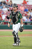 August 15 2008:  Petey Paramore of the Kane County Cougars, Class-A affiliate of the Oakland Athletics, during a game at Philip B. Elfstrom Stadium in Geneva, IL.  Photo by:  Mike Janes/Four Seam Images