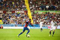 VALENCIA, SPAIN - SEPTEMBER 11: Verza during BBVA LEAGUE match between Levante U.D. And Sevilla C.F. at Ciudad de Valencia Stadium on September 11, 2015 in Valencia, Spain