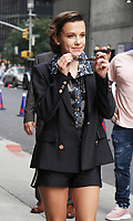 NEW YORK, NY - AUGUST 10: Millie Bobby Brown at The Late Show with Stephen Colbert in New York City on August 10, 2017. Credit: RW/MediaPunch
