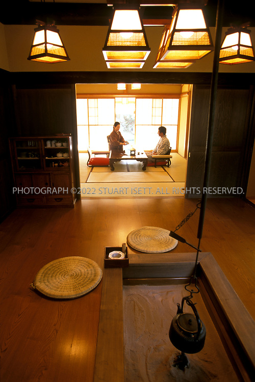 11/10/2002--Mishima, Japan..A traditional hotspring resort  or onsen in Mishimi, Japan, a popular area for onsens...All photographs ©2003 Stuart Isett.All rights reserved.This image may not be reproduced without expressed written permission from Stuart Isett.