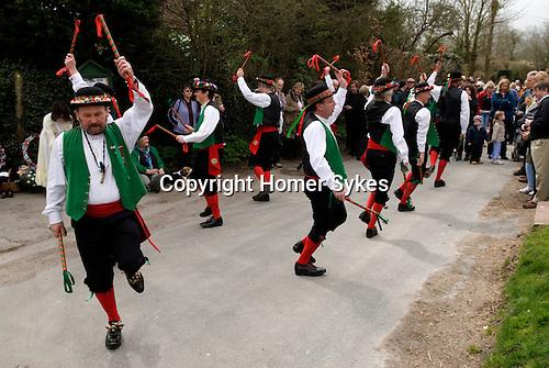 Chanctonbury Morris Men, Easter, Good Friday, The Rose Cottage Inn, Alciston, Sussex, England. 2006.
