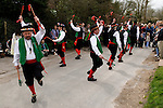 Chanctonbury Morris Men, Easter, Good Friday, The Rose Cottage Inn, Alciston, Sussex, England. 2006.