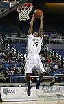 Agassi Prep's Kalinn Jackson dunks during the NIAA 2A State Basketball Championship game between West Wendover and Agassi Prep high schools at Lawlor Events Center, in Reno, Nev, on Saturday, Feb. 25, 2012. .Photo by Cathleen Allison