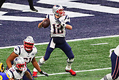 3rd February 2019, Atlanta Georgia, USA; NFL Superbowl LIII, New England Patriots versus Los Angeles Rams; New England Patriots quarterback Tom Brady (12) drops back to pass during the first quarter of Super Bowl LIII