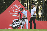 Matthais Schwab (AUT) and Christiaan Bezuidenhout (RSA) on the 17th tee during the final round of the WGC HSBC Champions, Sheshan Golf Club, Shanghai, China. 03/11/2019.<br /> Picture Fran Caffrey / Golffile.ie<br /> <br /> All photo usage must carry mandatory copyright credit (© Golffile | Fran Caffrey)