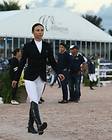 WELLINGTION, FL - FEBRUARY 09: SATURDAY NIGHT LIGHTS: Georgina Bloomberg  participates in Class 101 - FEI CSI5* $391,000 Fidelity Investments Grand Prix where the winner was Martin Fuchs (Swiss) second place was Kent Farrington (USA) and third was Conor Swail (IRE). The Winter Equestrian Festival (WEF) is the largest, longest running hunter/jumper equestrian event in the world held at the Palm Beach International Equestrian Center. Georgina Leigh Bloomberg is the owner of the equestrian team New York Empire; a professional equestrian; and a philanthropist. She is the daughter of Susan Brown and Michael Bloomberg - former New York City mayor, founder of Bloomberg LP, philanthropist, and the 11th richest person in the world who also might run for the presidency of the united states in 2020 on February 09, 2019  in Wellington, Florida.<br /> People:  Georgina Bloomberg <br /> CAP/MPI122<br /> &copy;MPI122/Capital Pictures