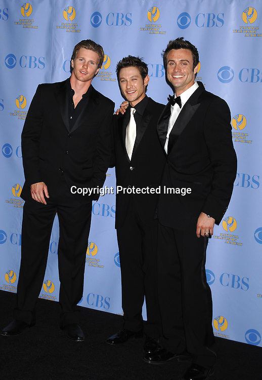 Thad Luckinbill, Michael Graziadei and Daniel Goddard of ..Young & Restless..posing for photographers in the Press Room at The 34th Annual Daytime Emmy Awards on June 15,2007 at The ..Kodak Theatre in Hollywood, California. ..Robin Platzer, Twin Images......212-935-0770