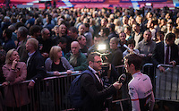 Fr&auml;nk Schleck (LUX/Trek-Segafredo) interviewed<br /> <br /> Ciao Fabian<br /> <br /> Farewell event in 't Kuipke in Gent/Belgium for Fabian Cancellara after retiring for pro racing (november 2016)