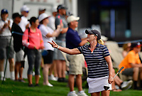 Cristie Kerr, of the United States, tosses tees to the fans along the Champions Walk, on her way to the 18th green. She finished her round at -6, T17 during the third round of the ANA Inspiration at the Mission Hills Country Club in Palm Desert, California, USA. 3/31/18.<br /> <br /> Picture: Golffile | Bruce Sherwood<br /> <br /> <br /> All photo usage must carry mandatory copyright credit (&copy; Golffile | Bruce Sherwood)during the second round of the ANA Inspiration at the Mission Hills Country Club in Palm Desert, California, USA. 3/31/18.<br /> <br /> Picture: Golffile | Bruce Sherwood<br /> <br /> <br /> All photo usage must carry mandatory copyright credit (&copy; Golffile | Bruce Sherwood)