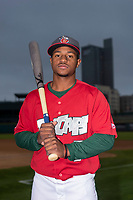 Fort Wayne TinCaps second baseman Xavier Edwards (9) poses for a photo before a Midwest League game against the Kane County Cougars at Parkview Field on April 30, 2019 in Fort Wayne, Indiana. (Zachary Lucy/Four Seam Images via AP)