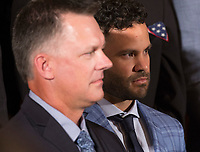 Jos&Egrave; Carlos Altuve, Houston Astros' second baseman participates in the welcoming ceremony of Baseball's 2017 World Series Campions, the Houston Astros to The White House in Washington, DC, March 12, 2018. <br /> CAP/MPI/CNP/CK<br /> &copy;CK/CNP/MPI/Capital Pictures