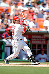 5 September 2005: Gary Bennett, catcher for the Washington Nationals, at bat during a game against the Florida Marlins. The Nationals defeated the Marlins 5-2 at RFK Stadium in Washington, DC. Mandatory Photo Credit: Ed Wolfstein.