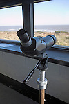 Telescope looking out to sea, Dunwich Heath, Suffolk, England