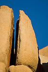 Eroded Split rock boulder near Barker Dam, Joshua Tree National Park, California