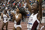 COLLEGE STATION, TX - MARCH 11: Jaevin Reed of Texas A&M, center, celebrates after the women's 4x400 meter relay victory during the Division I Men's and Women's Indoor Track & Field Championship held at the Gilliam Indoor Track Stadium on the Texas A&M University campus on March 11, 2017 in College Station, Texas. (Photo by Michael Starghill/NCAA Photos/NCAA Photos via Getty Images)