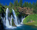 Burney Falls State Park, CA<br /> Burney Creek at 129ft Burney Falls on the Modoc Plateau, Cascade Range;