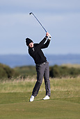 5th October 2017, The Old Course, St Andrews, Scotland; Alfred Dunhill Links Championship, first round; Lasse Jensen of Denmark hits a shot from the fairway on the fourteenth hole on the Old Course, St Andrews during the first round at the Alfred Dunhill Links Championship