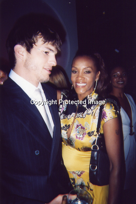 Ashton Kutcher & Vivica A. Fox.Sean P. Diddy Combs and Ron Burkle Present The Return of Gatsby .2003 MTV Movie Awards Post Party.Ron Burkle Beverly Hills Mansion.Los Angeles, Beverly Hills, CA.Saturday, May 31, 2003.Sales at Celebrityvibe.com/Photovibe.com.