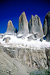 Torres del Paine, The 3 towers are  where this famous park takes it´s name from.