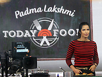 NEW YORK, NY - DECEMBER 6: Padma Lakshmi  pictured during a cooking segment on NBC's Today Show on December 06, 2018 in New York City. Credit: RW/MediaPunch