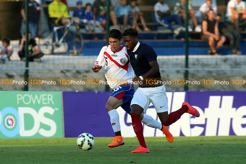 Romain Habran of France races towards the Costa Rica goal - France Under-20 vs Costa Rica Under-20 - 2015 Toulon Tournament Football at Stade de Lattre-de-Tassigny, Aubagne, France - 02/06/15 - MANDATORY CREDIT: Paul Dennis/TGSPHOTO - Self billing applies where appropriate - contact@tgsphoto.co.uk - NO UNPAID USE