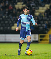 Joe Jacobson of Wycombe Wanderers during the Sky Bet League 2 match between Notts County and Wycombe Wanderers at Meadow Lane, Nottingham, England on 10 December 2016. Photo by Andy Rowland.