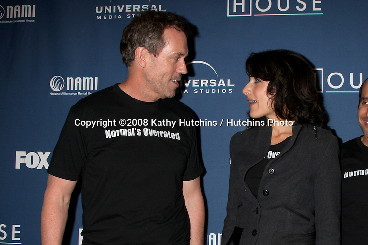"Hugh Laurie & Lisa Edelstein  arriving at the 100th Episode Party for ""House"" at STK Resturant in Los Angeles, CA on .January 21, 2009.©2008 Kathy Hutchins / Hutchins Photo..                ."