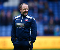 Bolton Wanderers' first team assistant manager Steve Parkin during the pre-match warm-up<br /> <br /> Photographer Chris Vaughan/CameraSport<br /> <br /> The EFL Sky Bet Championship - Sheffield Wednesday v Bolton Wanderers - Saturday 10th March 2018 - Hillsborough - Sheffield<br /> <br /> World Copyright &copy; 2018 CameraSport. All rights reserved. 43 Linden Ave. Countesthorpe. Leicester. England. LE8 5PG - Tel: +44 (0) 116 277 4147 - admin@camerasport.com - www.camerasport.com