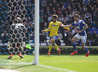 Leeds United's Tyler Roberts has an attempt on goal<br /> <br /> Photographer Mick Walker/CameraSport<br /> <br /> The EFL Sky Bet Championship - Birmingham City v Leeds United - Saturday 6th April 2019 - St Andrew's - Birmingham<br /> <br /> World Copyright © 2019 CameraSport. All rights reserved. 43 Linden Ave. Countesthorpe. Leicester. England. LE8 5PG - Tel: +44 (0) 116 277 4147 - admin@camerasport.com - www.camerasport.com