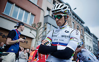 Michal Kwiatkowski (POL/Ettix-Quickstep) at he start<br /> <br /> 79th Flèche Wallonne 2015
