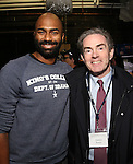 Nik Walker and James Baskers before the Gilder Lehman Institute of American History Education Matinee of 'Hamilton' at the Richard Rodgers  Theatre on December 15, 2016 in New York City.