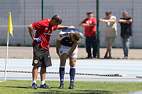Scotland's Alex Iacovitti leaves the field with an injury and heads to the dressing room in the first half during Czech Republic Under-20 vs Scotland Under-20, Toulon Tournament Football at Stade de Lattre-de-Tassigny on 10th June 2017
