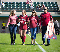 STANFORD, CA - October 21, 2018: Jordan DiBiasi at Laird Q. Cagan Stadium. No. 1 Stanford Cardinal defeated No. 15 Colorado Buffaloes 7-0 on Senior Day.