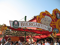 Biergarten at Oktoberfest - Munich, Germany