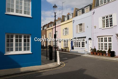 Coloured homes Godfrey street Chelsea London SW3. 2006.