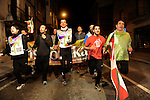 "People run in Lodosa early on March 26, 2015, Basque Country. The ""19th Korrika"" is a relay of hand to hand baton passing without interruption over 11 days and 10 nights crossing many Basque villages and cities, totalling some 2300 kilometres in a bid to promote the basque language.The ""Korrika"" this year end in Bilbao on March 29. (Ander Gillenea / Bostok Photo)"