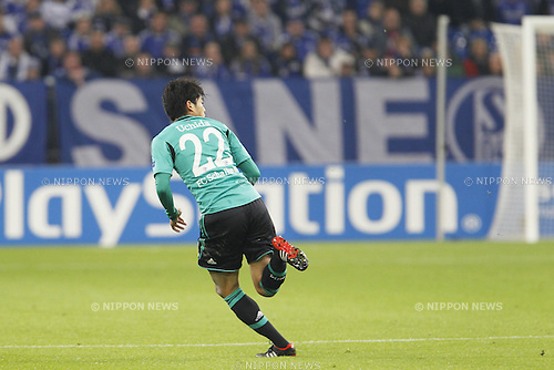 Atsuto Uchida (Schalke), SEPTEMBER 18, 2013 - Football / Soccer : UEFA Champions League match between Schalke 04 and Steaua Bucharest at the Veltins-Arena in Gelsenkirchen, Germany, September 18, 2013. (Photo by AFLO)