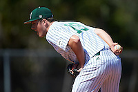 Eastern Michigan Eagles relief pitcher Matthew Beaton (19) looks in for the sign during a game against the Dartmouth Big Green on February 25, 2017 at North Charlotte Regional Park in Port Charlotte, Florida.  Dartmouth defeated Eastern Michigan 8-4.  (Mike Janes/Four Seam Images)